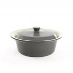 Круглое блюдо для выпечки 30см серый