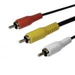 Интерфейсный кабель, SHIP, SH8053-1.5B, RCA, (тюльпаны, аудио-видео-звук), Блистер, 1.5 м, Чёрный