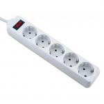 Сетевой фильтр Defender ES, 5 розеток, 5м, White