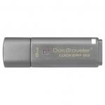 Флешка USB Kingston, DT Locker+G3, 8GB, gray